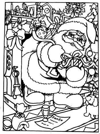 Flocked Colouring Card 2